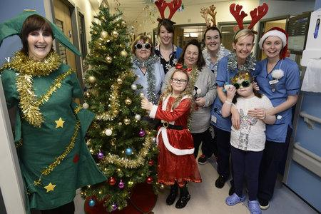 See Christmas magic bring a smile to sick kids at Yorkhill Hospital